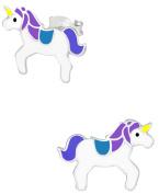 Hypoallergenic Sterling Silver Unicorn Stud Earrings for Kids