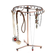 . Upgraded Rotating Jewellery Tree Holder Organiser Bracelet Necklace Display Stand, Antique Bronze