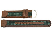 18MM BROWN GREEN LEATHER SPORT WATCH BAND STRAP FITS TIMEX EXPEDITION INDIGLO