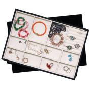 Stackable Tray Organises jewellery BRACELETS RINGS NECKLACES EARRINGS Showcase Display Organiser