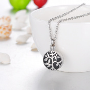 Tree of Life Cremation Jewellery Keepsake Pendant Memorial Urn Necklace Ash Holder