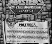 Masters of the Universe Club Eternia Map of Preternia