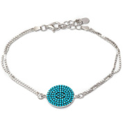 .925 Sterling Silver Bracelet with Nano Turquoise Stones