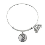Wind & Fire Virgo (Maiden) Silver Charm Bangle (August 23 - September 22)