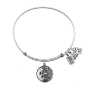 Wind & Fire Leo (Lion) Silver Charm Bangle (July 23 - August 22)