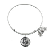 Wind & Fire Libra (Scales) Silver Charm Bangle (September 23 - October 22)