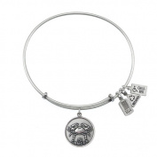Wind & Fire Cancer (Crab) Silver Charm Bangle (June 21 - July 22)
