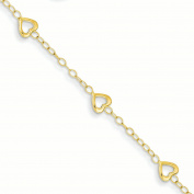 14k Heart Adjustable Child's Bracelet