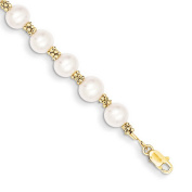 14k Yellow Gold FW Cultured Pearl Bracelet