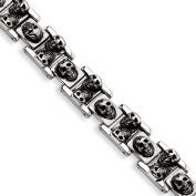 Stainless Steel Skull 21cm Bracelet