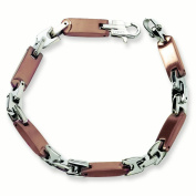 Stainless Steel Brown IP-plated 21cm Bracelet