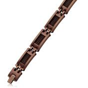 Stainless Steel Brown IP-plated 23cm Bracelet