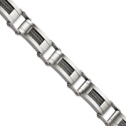 Stainless Steel Wire Brushed 22cm Bracelet