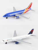 Southwest, Delta Airlines Diecast Aeroplane Package - Two 14cm Diecast Model Planes