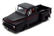 1956 Ford F-100 Pickup Truck, Black - Jada Toys Bigtime Muscle 90484 - 1/24 scale Diecast Model Toy Car