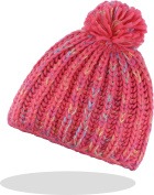 Ladies Fairisle Bobble Hat With Fleece Inner Band in 4 Different Colours Extra Warm