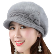 Chytaii Women's Hat Winter Beanies Hat Cap Knitted Hat Winter Warm Hat for Women Pink Grey