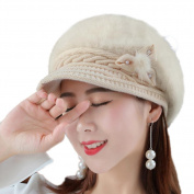 Chytaii Women's Hat Winter Beanies Hat Cap Knitted Hat Winter Warm Hat for Women Beige