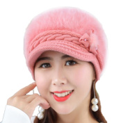 Chytaii Women's Hat Winter Beanies Hat Cap Knitted Hat Winter Warm Hat for Women Pink