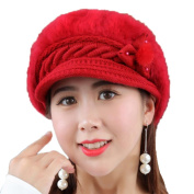 Chytaii Women's Hat Winter Beanies Hat Cap Knitted Hat Winter Warm Hat for Women Red