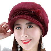Chytaii Women's Hat Winter Beanies Hat Cap Knitted Hat Winter Warm Hat for Women Wine Red