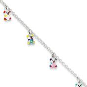 Sterling Silver Enamelled Baby Charm Bracelet