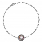 5th & Main Sterling Silver Hand-Wrapped Single Round Amethyst Stone Bracelet