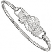 LogoArt NBA Cleveland Cavaliers Sterling Silver Bangle Bracelet