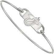 LogoArt NBA Miami Heat Sterling Silver Bangle Bracelet