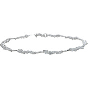 Plutus Brands Round-Cut CZ Sterling Silver Bracelet