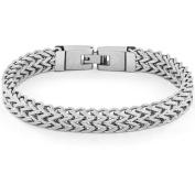 Crucible High-Polish Stainless Steel Double Franco Link Bracelet