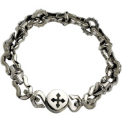 Primal Steel Stainless Steel Polished Magnetic Clasp Bracelet, 22cm