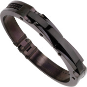 Primal Steel Stainless Steel Black IP-Plated Bangle