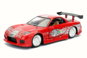 F8 Dom's Mazda RX7 Fate of the Furious, Red - Jada 98674DP4 - 1/32 Scale Diecast Model Toy Car