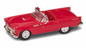 1955 Ford Thunderbird Convertible, Red - Road Signature 94228 - 1/43 Scale Diecast Model Toy Car
