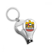United Arab Emirates National Emblem Metal Key Chain Ring Multi-function Nail Clippers Bottle Opener Car Keychain Best Charm Gift