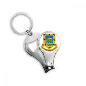 Tuvalu Oceania National Emblem Metal Key Chain Ring Multi-function Nail Clippers Bottle Opener Car Keychain Best Charm Gift