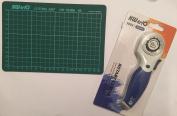 Kw-triO Cutting mat A5 self healing grid cutting mat non slip knife board + Kw-triO 45mm rotary cutter