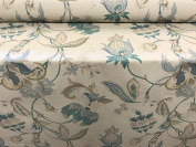 "Vintage Linen Pomaganate Teal140cm/54"" Designer Material Sewing Upholstery Curtain Craft Fabric"