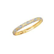 10k Real Yellow Gold Tubular X Bangle Bracelet 18cm