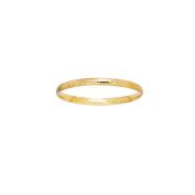 """14k Yellow Gold 3MM Engraved Baby Children Kids Bangle Bracelet 5.5"""""""