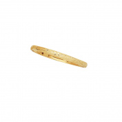 "10K Yellow Gold 4mm Shiny Florentine Flex Bangle 5"""