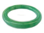 Round Inside Slip on Green Jade Bangles