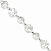 Sterling Silver 18cm Seashells & Sand Dollars Bracelet