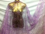 Sequinned Embroidery Organza Voile 3 Bridal/Crafts/Curtains 280cm Extra Wide