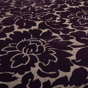 New Purple Floral Flower Gold Sheen Soft Texture Chenille Upholstery Furniture Fabrics