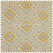 Kilim Aztec Geometric Inspired Pattern Yellow Colour Quality Upholstery Furnishing Fabrics