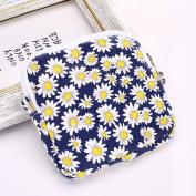 xinyiwei Portable Sanitary Pad Bag Cute Daisy Flower Printed Sanitary Napkin Bag