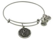 Alex and Ani Initial E Charm Bangle Bracelet - A13EB14ES