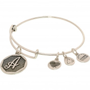 Alex And Ani Women's Power Of Positivity Initial A Rafaelian Silver Charm Bracelet